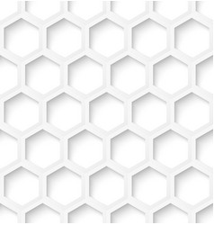 White paper hexagon seamless pattern background vector