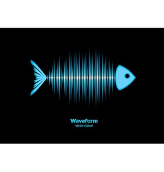 Sonar waveform fish vector