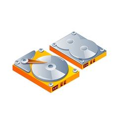 Icon hard disk vector