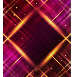 Abstract plaid background with light effects vector