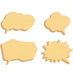 Speech bubbles consisting of waffles vector