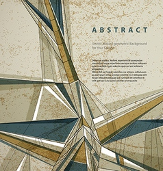 Abstract geometric background technical style vector