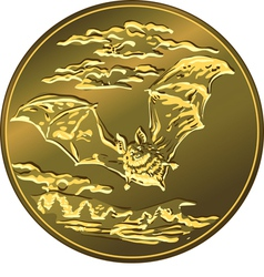 Gold money coin with vector