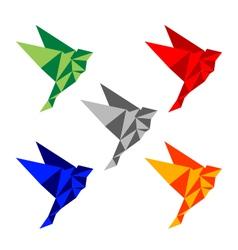 Polygon birds vector