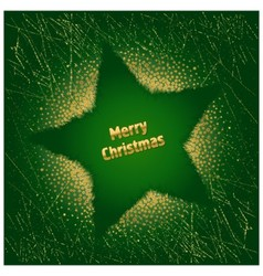 Green christmas star vector