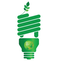 Eco light bulb vector