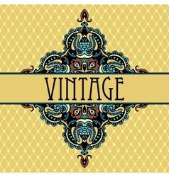 Elegance luxuuy vintage vignette design vector