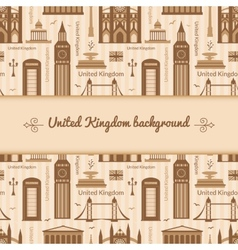 Landmarks of united kingdom background vector