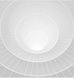 Abstract 3d white spiral tunnel vector