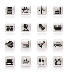Simple business and industry icons vector