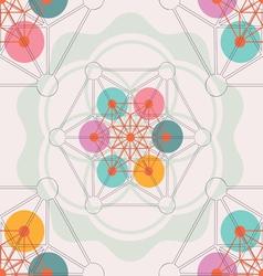 Lotus geometry seamless pattern vector