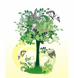 Decorative tree vector