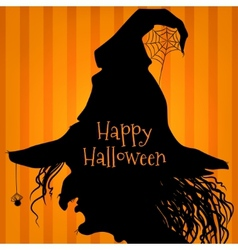 Halloween witch purple vector