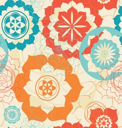 Lotus symbols seamless background vector