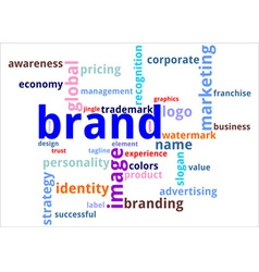 Word cloud brand vector