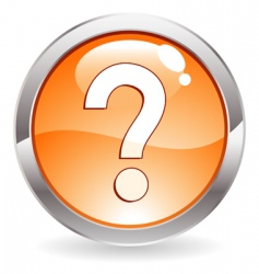 Gloss button with question mark vector
