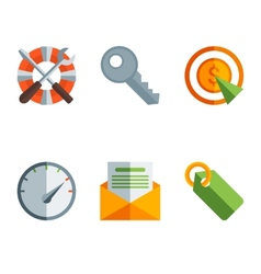 Abstract flat of technology vector