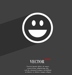 Funny face icon symbol flat modern web design with vector