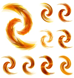 Sunny swirl elements for design vector