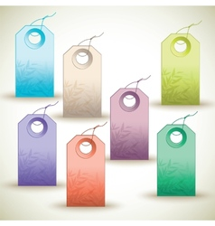 Many colorful tags on white background vector