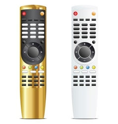 Golden and white remote control vector
