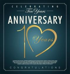 10 years anniversary background vector