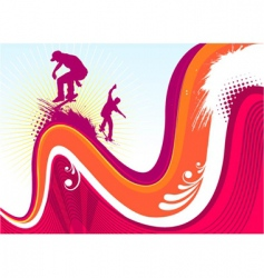 Skaters vector