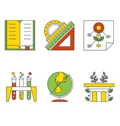 Education and science concept flat design vector