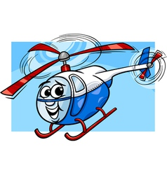 Helicopter or chopper cartoon vector
