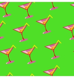 Martini seamless pattern vector