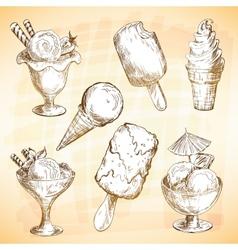 Ice cream set vector