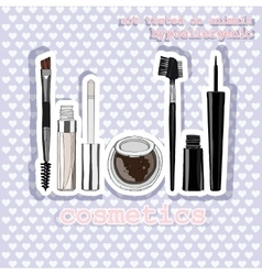 Set of makeup for the eyes sticker vector