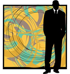 Businessman in suit silhouette vector