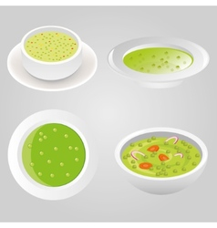 Pea soup collection vector