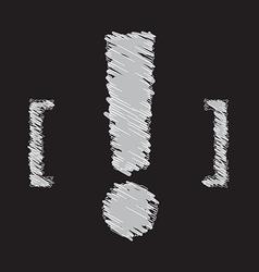 Exclamation mark symbol design vector