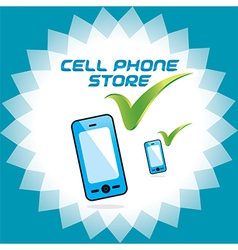Mobile phone store icons vector