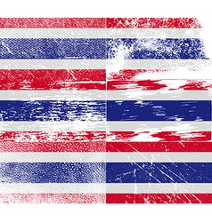 Flag of thailand with old texture vector