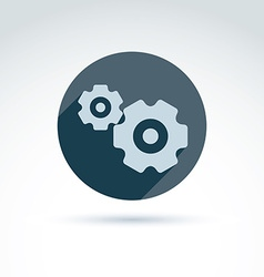 Gears and cogs system theme icon conceptual vector
