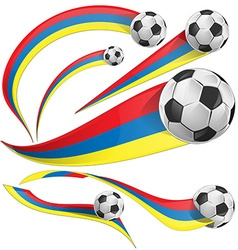 Colombia background with soccer ball vector
