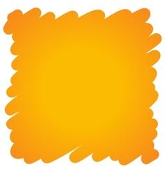 Filled felt pen orange background vector