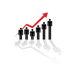 Rising figure graph vector