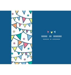 Colorful doodle bunting flags horizontal seamless vector