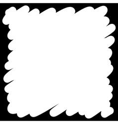 Filled felt pen white background vector