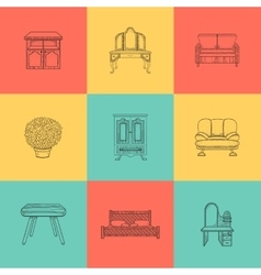 Set of for home furniture vector