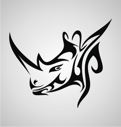 Tribal rhino vector