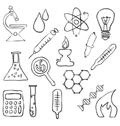 Sketch laboratory images vector