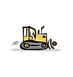 Caterpillar tractor construction equipment for vector