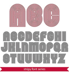 Rounded poster elegant stripy typeset best for vector