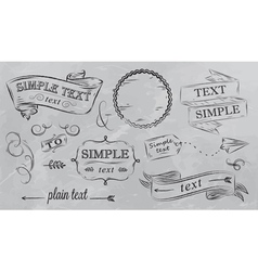 Design elements in grey color vector
