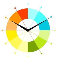 Creative clock design vector